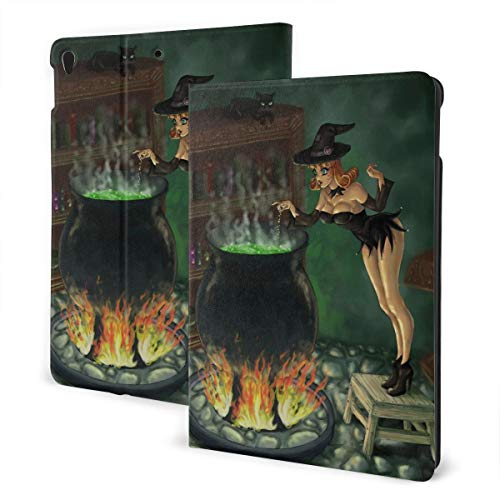 Witches Brew Halloween Sexy Cute Design Pu Leather Ipad Pro Air 3 10.5/Ipad 7th Generation 10.2 Inch Case Cover Holder for Kids Girls Boy Women Men Accessories