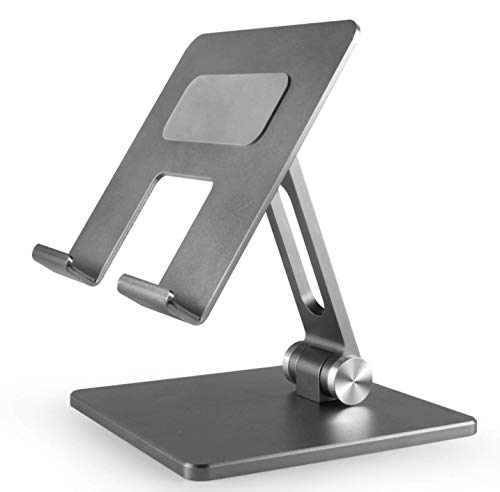 Tablet Stand Adjustable, NIISEN Tablet Stand : Desktop Stand Holder Dock Compatible with Tablet Such as iPad Pro 9.7, 10.5,12.9 Air Mini 4 3 2, Kindle, Nexus, Tab, E-Reader (Space Gray)
