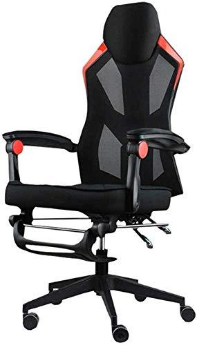 YONGYONGCHONG Silla de oficina Silla de juego Racing Computer Office Silla de malla transpirable apoyabrazos silla de ordenador con reposapiés
