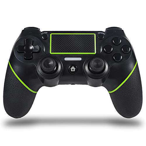 Sefitopher Wireless PS4 Controller for Playstation 4/Pro/Slim/PC Laptop, Professional PS4 Gamepad,Touch Panel Joypad with Dual Vibration, Instantly Timely Manner to Share Joystick (Green)