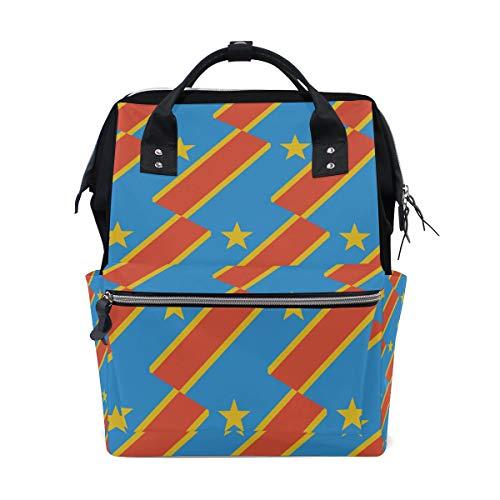 Kongo Kinshasa Flagge Mama Tasche Mutter Tasche Reise Rucksack Windeltasche Daypack Windeltaschen für Babypflege Große Kapazität