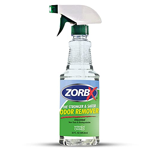 ZORBX Unscented Odor Remover Spray - Perfect Solution for Strong Odor | Environment Friendly & Fast-Acting Odor Eliminator for Dog, Cat, Puppy (32oz.)