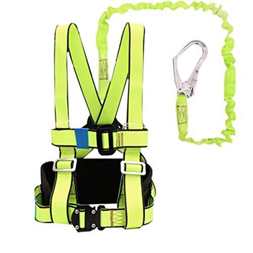 ZWWZ Klettern Sicherheitsgurt, Körperrettungs Buffer Rope Durable Protective Wear beständig for den Außen Aerial Work Strom Constructio Technik Schutz Außenwandreinigung HAIKE