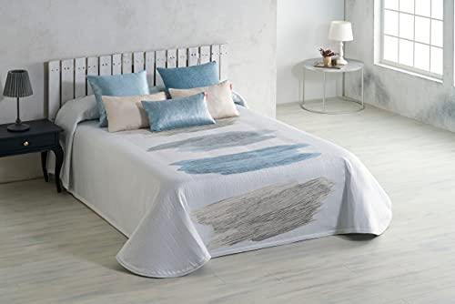 Textilia - Colcha Piqué Mauricio (Azul y beig, 150)
