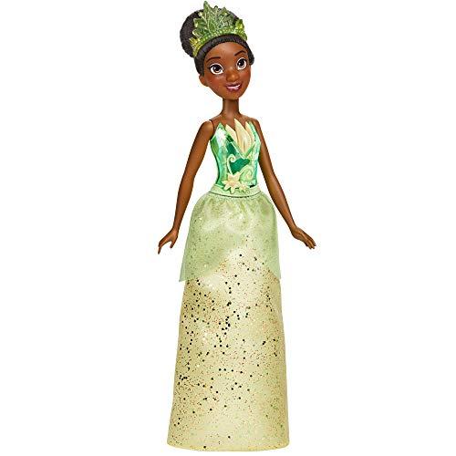Disney Prinzessin Schimmerglanz Tiana Puppe, Modepuppe mit Rock und Accessoires, für Kinder ab 3 Jahren