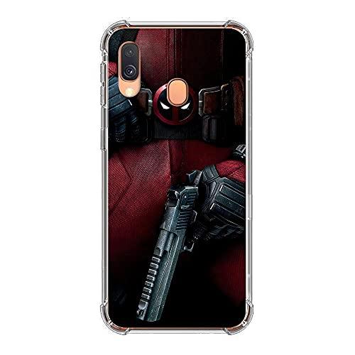 phpkim88 Funda para Samsung Galaxy A40-Hero-Deadpool 1, flexible y a prueba de golpes