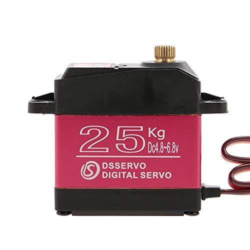 Goolsky DSSERVO DS3225 Digital Servo 25KG Metal Gear High Torque Impermeable para RC Traxxas HSP Coche Barco Helicóptero Robot Avión