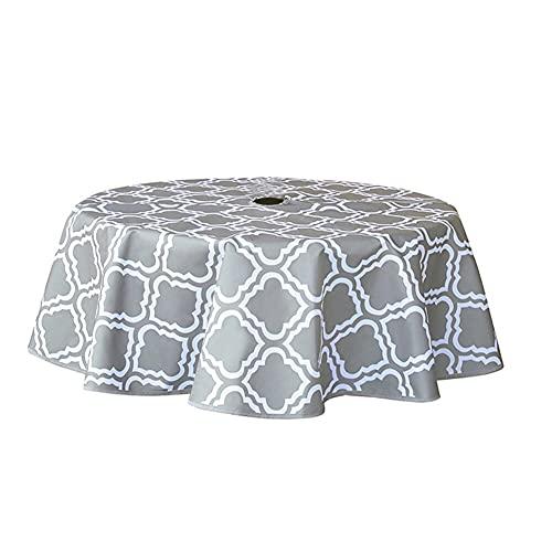 Diseño colorista puro Mesa redonda de tela a prueba de aceite e impermeable Bordado Popular Mesa de mesa Mesa de mesa Mesa de comedor redonda Home Banquete Restaurantes, banquetes ( Color : 153cm )