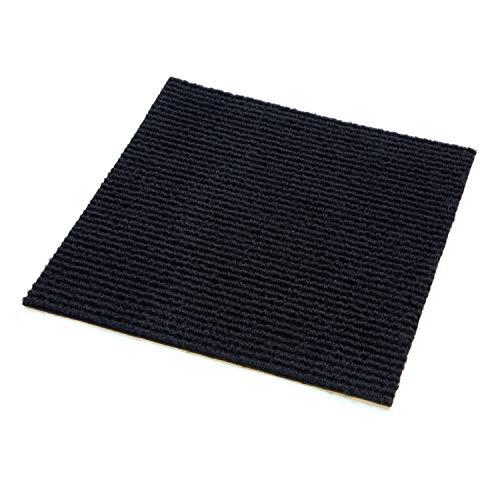 IncStores Berber Carpet Tiles (1 Tile - 1 Sqft, Black)