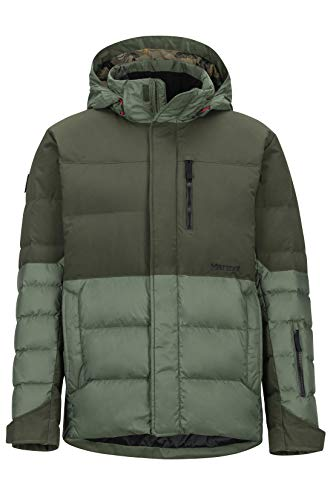 Marmot Herren Shadow Hardshell Ski- Und Snowboard Jacke, Winddicht, Wasserdicht, Atmungsaktiv, Crocodile/Rosin Green, L