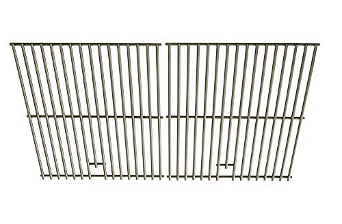 Stainless Steel Cooking Grates For Brinkmann 810-8534-S, Glen Canyon 720-0145-LP, Jenn-Air 720-0163, Kenmore 720-0430, Kirkland 720-0433, NexGrill 720-0430 Gas Grill Models, Set of 2