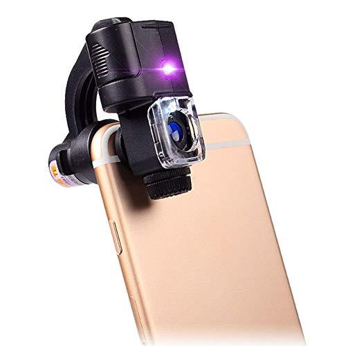 JYTFDJ Lupe Telefon Mikroskop LED-Licht 90X Identifikation Schmuck Jade antike Stempel Werkzeug Überprüfen Sie Geld