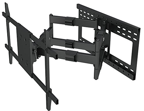 Heavy Duty Articulating Arm Long Extension TV Wall Mount Bracket with 24' Stud Support (32' Extension arm)