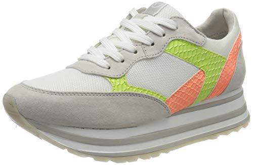 TAMARIS Damen 1-1-23739-24 Sneaker, Ivory/Lt.Neon, 40 M EU