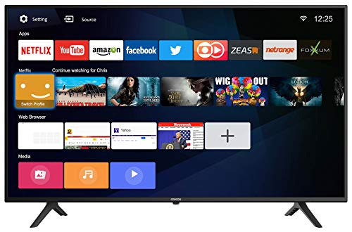 Coocaa 43S3N-E 43 Zoll UHD Smart LED Fernseher (109 cm), Triple Tuner, Prime Video, Netflix, YouTube (HDMI, CI-Slot, USB, digital Audio)