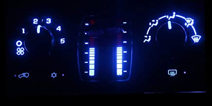 HERCOO Blue LED Lights Bulbs of AC Climate Heater Control Compatible with Chevy 03-06 Silverado Avalanche Tahoe Suburban, ...