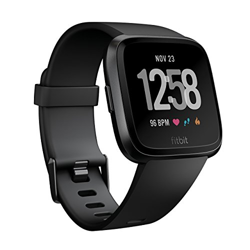 Fitbit Versa スマートウォッチ Black L/Sサイズ  [日本正規品] FB505GMBK-CJK