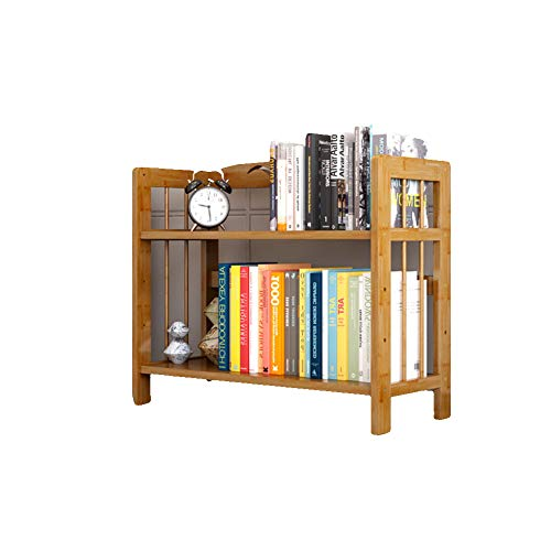 KELE Fashion Eenvoudige Bamboe Boekenplank, Multi-layer Open-Plan Planken Voor het plaatsen van Kantoorbenodigdheden Documenten Boeken Planten In Thuis Keuken