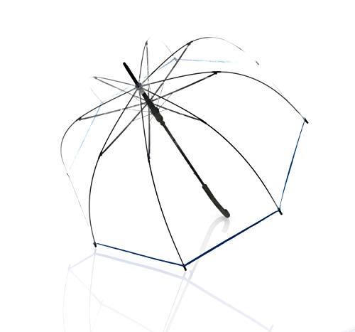 Doppler paraplu derby hit lang AC transparant - automatisch - stabiel en windbestendig - klokvorm