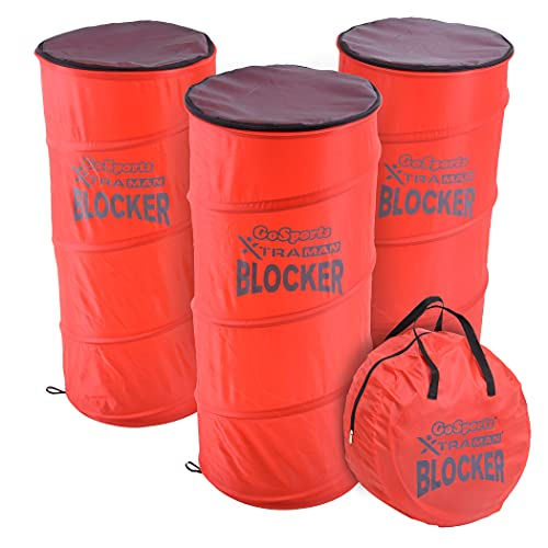 GoSports XTRAMAN Blocker Pop-Up Defenders 3 Pack - Safely Simulate Defenders for All Major Sports - Basketball, Soccer, Football and More