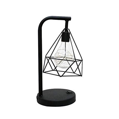 Dicomi LED Tischlampe Energiesparende Nachttischlicht Diamant Design Wasserdicht PC für Hochzeit, Party, Bar, Haus, Hotel, Heimtextilien 4,5V 0,5W (136 × 98 × 152 cm) Gelb