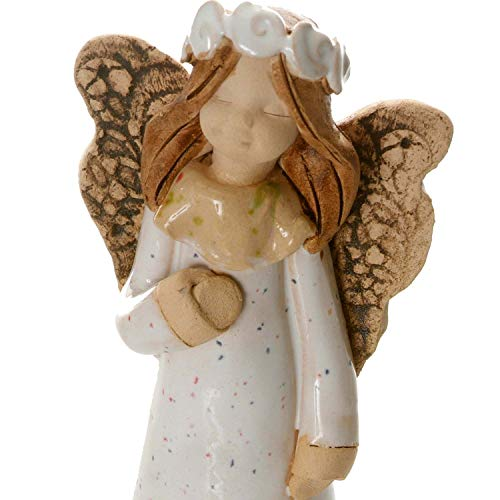 Schutzenengel der Gesundheit | Engel NINA in rotem Kleid | Glücksbringer | Schutzengel Figur zum Sammeln.
