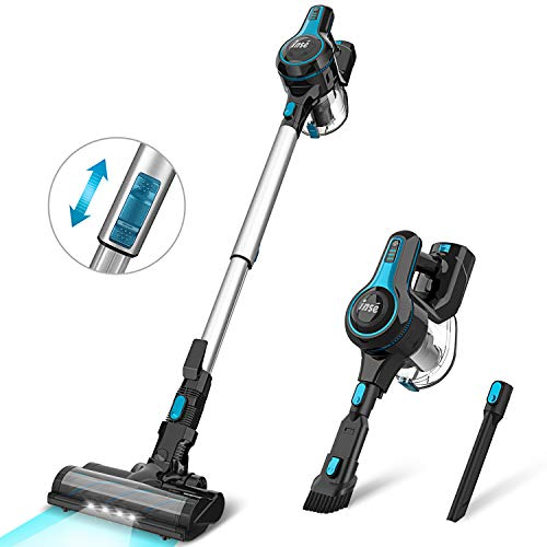 INSE Cordless Vacuum Cleaner 4 in 1 Powerful Suction Stick Vacuum Lightweight Quiet Rechargeable 1.2 L Large Dust Cup Handheld Vacumm for Home Car Pet Hair Carpet Hard Floor - N5