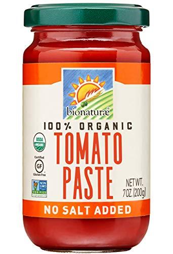 Bionaturae Tomato Paste | Organic Tomato Paste | Keto Friendly | Non-GMO | USDA Certified Organic | No Added Salt or Sugar | Made in Italy | 7 oz