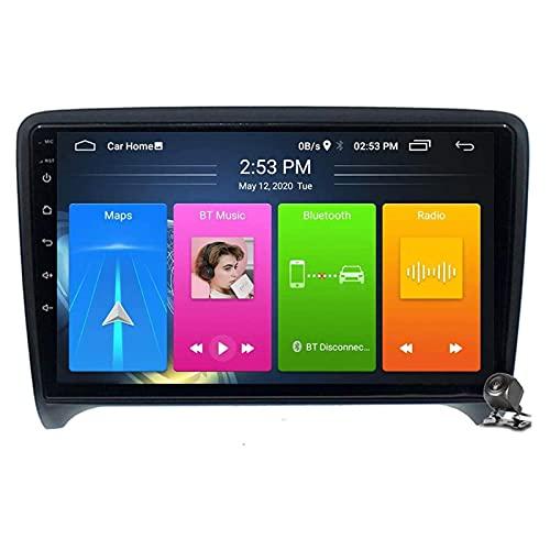 Car Entertainment Multimedia Radio, Android 9.1 Car Navigation Stereo con Pantalla táctil de 9 Pulgadas para Audi TT MK2 8J 2006-2014 WiFi / 4G Tethering Internet, Compatible con RDS DSP FM BT