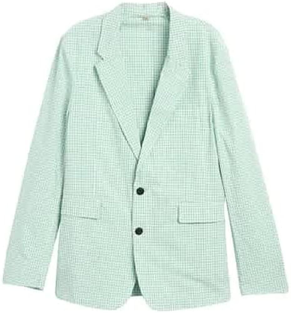 BURBERRY Serpentine Slim Fit Gingham Cotton Tailored Blazer, Brand Size 46R (US Size 36)