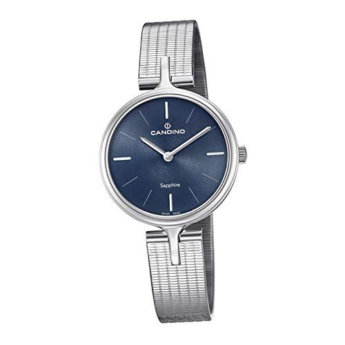 Candino Reloj de pulsera para mujer C4641/2, moderno, analógico, de acero inoxidable, plateado, D2UC4641/2, un regalo para Navidad, cumpleaños, día de San Valentín para la mujer