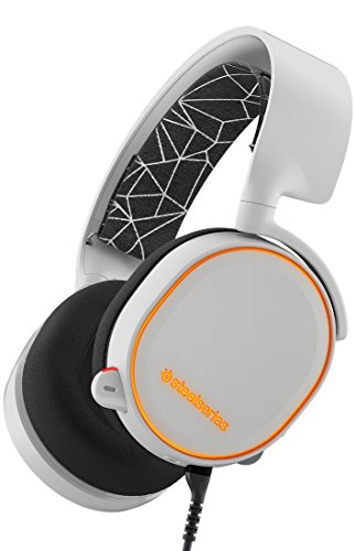 SteelSeries Arctis 5 (Edición Legado) - Auriculares para juego, Iluminación RGB, DTS 7.1 Surround para PC, PC, Mac, PlayStation 4, Móvil, VR, color Blanco