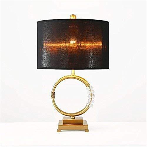 Raxinbang Godess4 nórdica Creativa Americana de la Manera Simple decoración de Cristal de Oro LED Light Modelo Salón Dormitorio lámpara de Escritorio 42 * 55 Lámpara de Mesa
