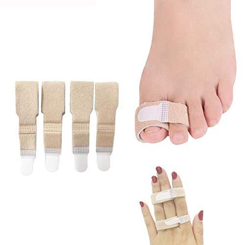 Broken Toe Wraps Splint - Pack of 4 Toe Separator, Straightener for Hammer Toes, Turf Toe