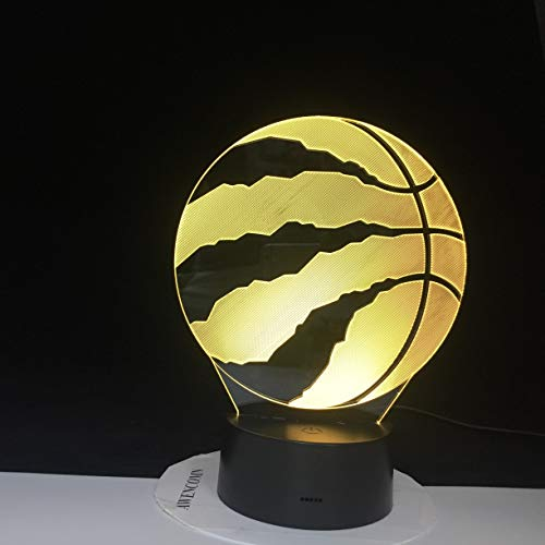 Nur 1 Stück Coole 3D LED Basketball Sport Home Decoration Illusion Touch Usb Farblampe Schlafzimmer Nachtlicht Bestes Kind Jungen Mann Geschenk