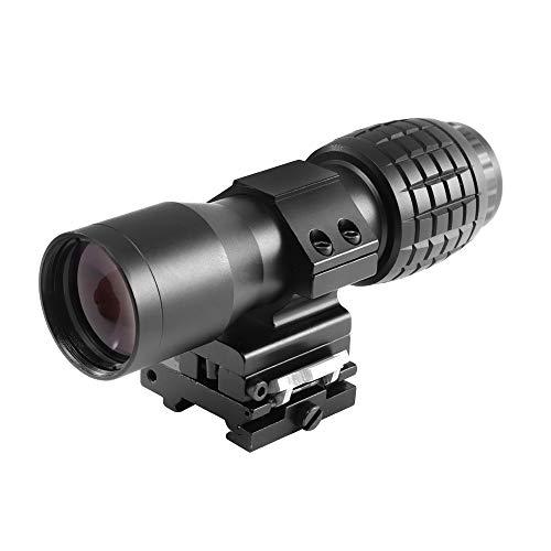 JASHKE 4X Magnification per Red DOT Scope Sight Flip-to-Side QD Mount 20mm Rail