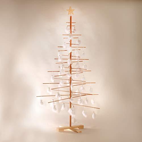 xmas3 L-190 cm Weihnachtsbaum aus Holz, Natural, 100 x 100 x 190 cm