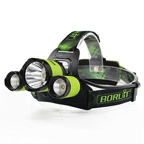 Boruit Upgrated B21 Zoomable 3-LED...