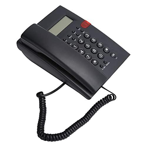 Exliy Teléfono de Escritorio con Cable, con Grabador de Voz con Altavoz, Proceso de instalación Sencillo, para Hotel de Oficina Familiar