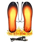Heated Insoles, USB Rechargeable Heated Shoes Pad (Size 8-12/41-46), DIY Customizable Electric Heated Insoles for Outdoor | Camping | Skiing | Hunting, Winter Insole Foot Warmers for Men and WOM