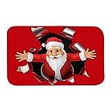 Wood.L Weihnachten Home rutschfeste Tür Fußmatten Hall Teppiche Küche Decor Badematte Badteppiche Rutschfester Badvorleger rutschfest Matte Fußmatte Fußabtreter Fussmatte Weihnachtsdeko