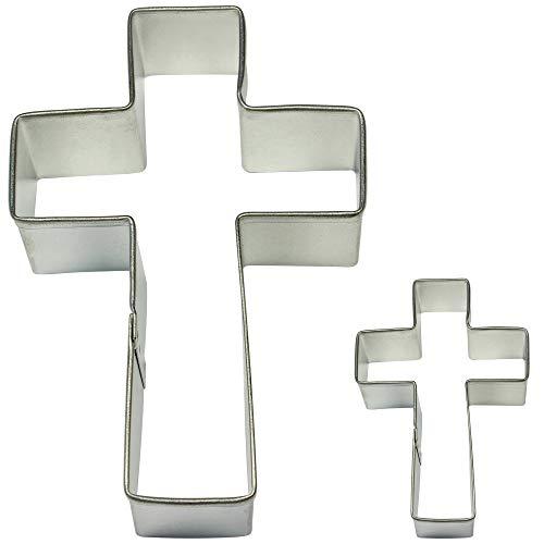 PME SC604 Cross Cookie und Cake Cutters, kleine Größen, 2er-Set, Edelstahl, Silver, 10 x 2 x 7 cm