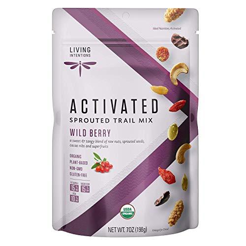 Living Intentions Organic Wild Berry Trail Mix – NonGMO – Gluten Free – Vegan – Paleo - 7 Oz