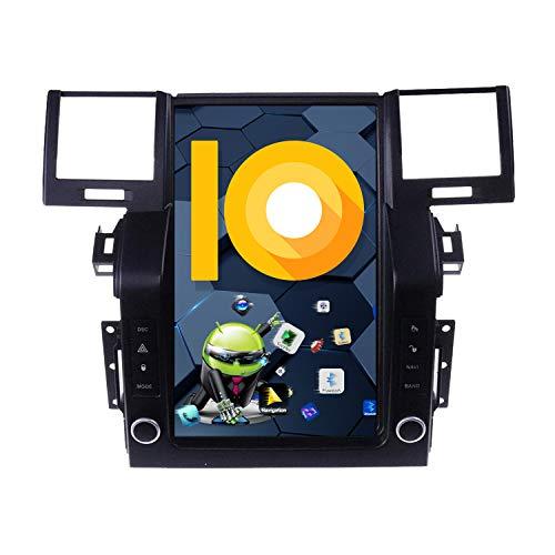 ZWNAV Pantalla Vertical de 10,4 Pulgadas Android 10.0 Radio de Coche para Land Rover Range Rover Sport L320 2009-2013 Navi Adaptador de navegación GPS Bluetooth WiFi Carplay (2 GB +32 GB, 2005-2009)