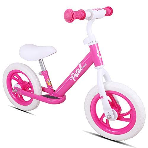 JOYSTAR ペダルなし自転車 2、3、4、5歳 キックバイク 12インチ 幼児用 子供用自転車 ランニングバイク 誕生日プレゼント 子供のギフト バランス感覚養成 軽量 コンパクト キッズバイク 贈り物 高さ調節可能 スポーツモデル 男の子 女の子 ピ