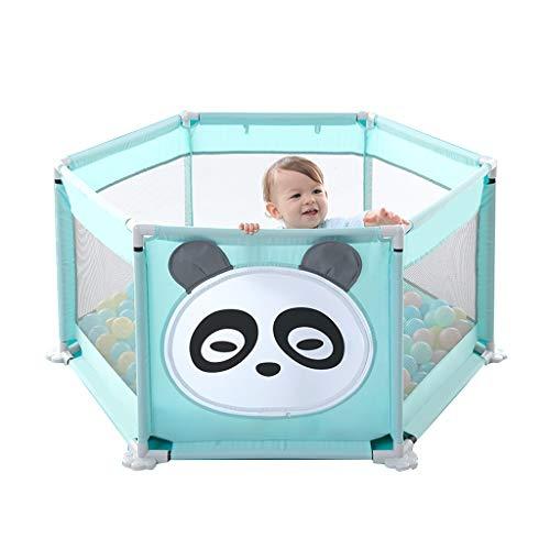 Karikatur-Sicherheitszaun-sechseckiges Spiel-Zaun-Innenspielplatz-faltender Laufstall der Kinder, verwendbar für Kinder im Alter von 0-6, faltbar ( Color : ELEPHANT , Size : 125*125*68CM(200 BALLS) )