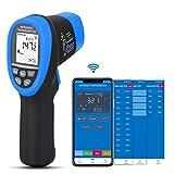 BTMETER Non Contact Infrared Thermometer Laser Temperature Measure Gun Bluetooth APP Sync