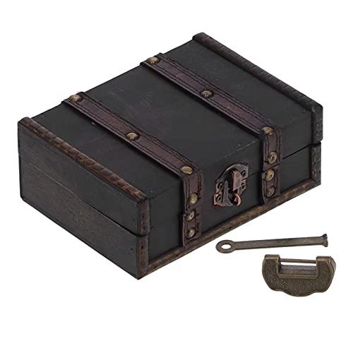 XINL Joyero, Caja de Almacenamiento Caja de Almacenamiento de Madera para Escritorio Caja de Almacenamiento portátil Antigua Decorativa Multiusos para Oficina para la Escuela para el hogar