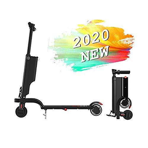 SOAR Patinetes para Niños E-Scooter rápido hasta 18 km/h, a 10 km ~ 15 kilometros de Largo Alcance, Capacidad de Carga de 120 kg, Plegable (Color : Black)