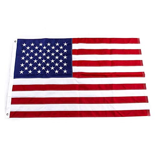 Yafeco U.S. 50 Star Sewn Boat Flag, 12 x 18 inch Yacht Boat Ensign Nautical US American Flag Fully with Sewn Stripes, Embroidered Stars and Brass Grommets.